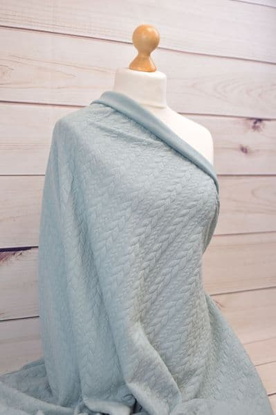 Sea Green Jacquard Cable Knit