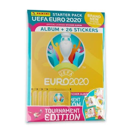 Panini Euro 2020 Tournament Edition Sticker Collection - Starter Pack