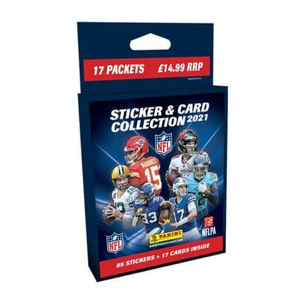 Panini NFL 2021 - Sticker & Card Collection Multiset (17 Packs)