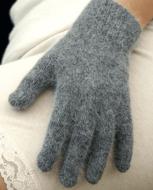 Angora Gloves - black
