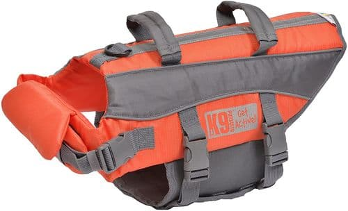 The K9 pursuits dog life jacket - Dog-tastic float coat