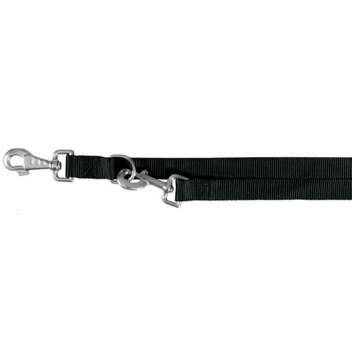 Trixie Classic Adjustable Lead - Black - Double Ended Lead