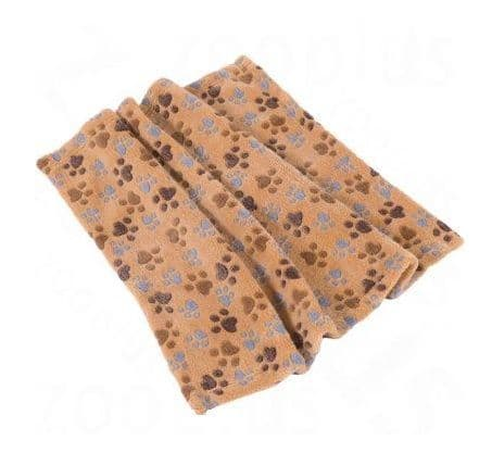 Trixie Laslo Fleece Dog Blanket - Beige