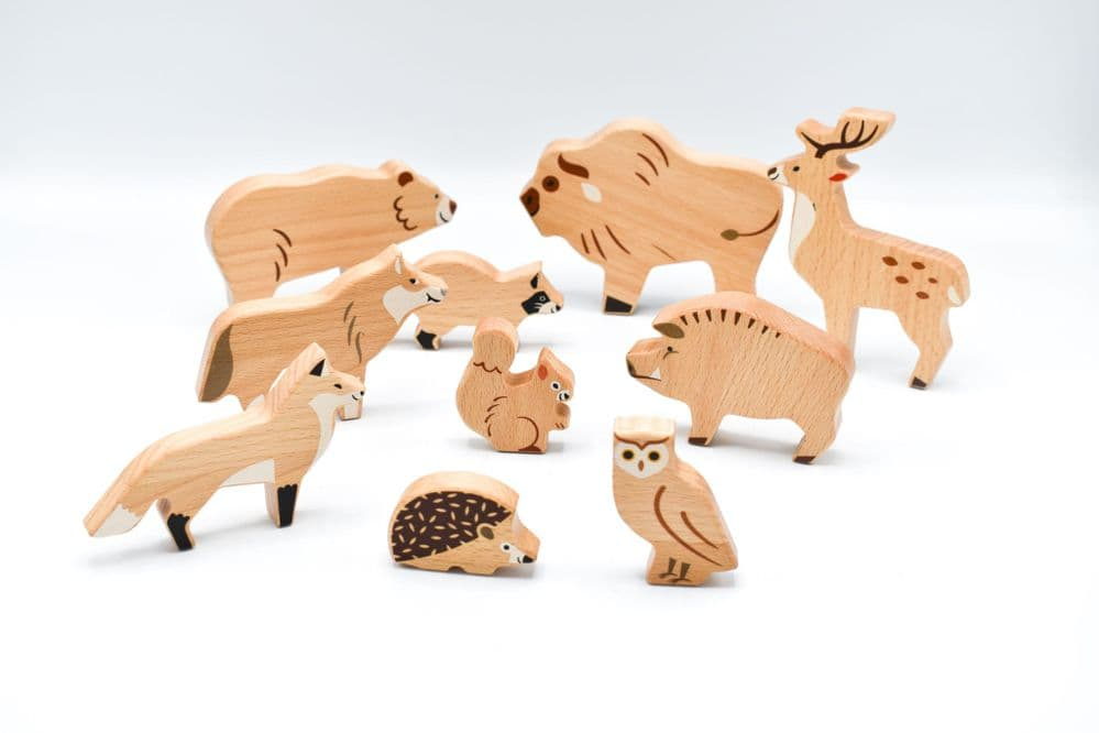 Bajo Forest Animals Set Of Wooden Figures