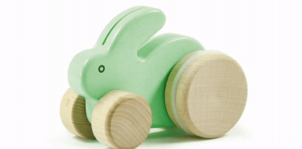 Bajo Small Wooden Rabbit - Mint