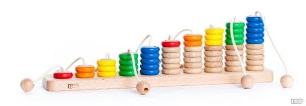 Bajo Wooden Rope Abacus Counting Toy