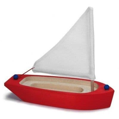 Gluckskafer Red Sailing Boat Bath Toy