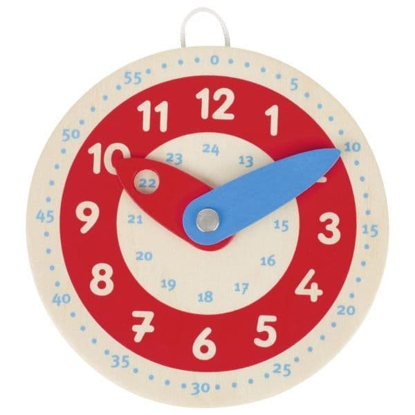 Goki Wooden Learn To Tell The Time Clock