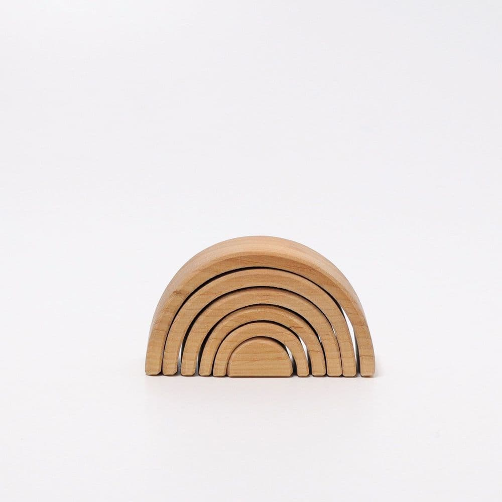 Grimms Small Wooden Natural Rainbow