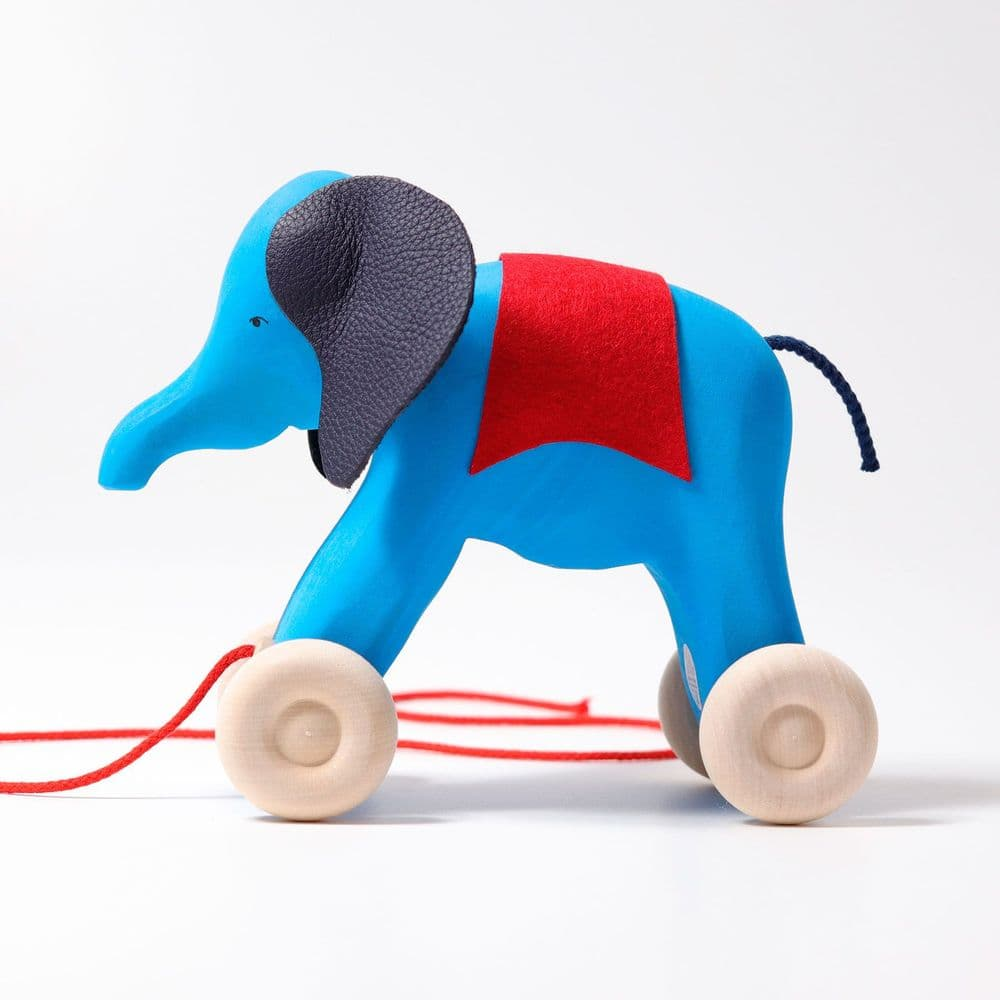 Grimms Wooden Pull Along Elephant Otto
