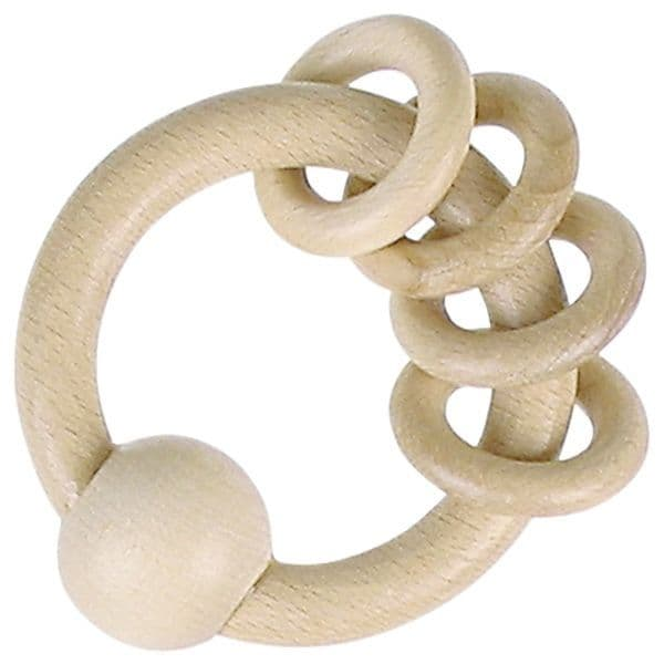 Heimess Natural Wood 4 Rings Touch Ring
