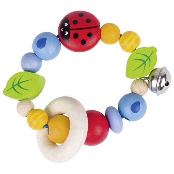 Heimess Wood Ladybird Touch Ring