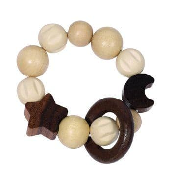 Heimess Wooden Moon & Star Touch Ring