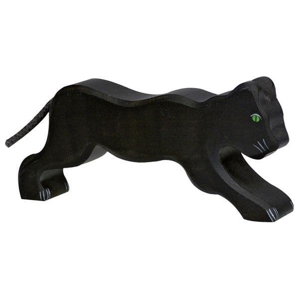 Holztiger Black Panther Figure