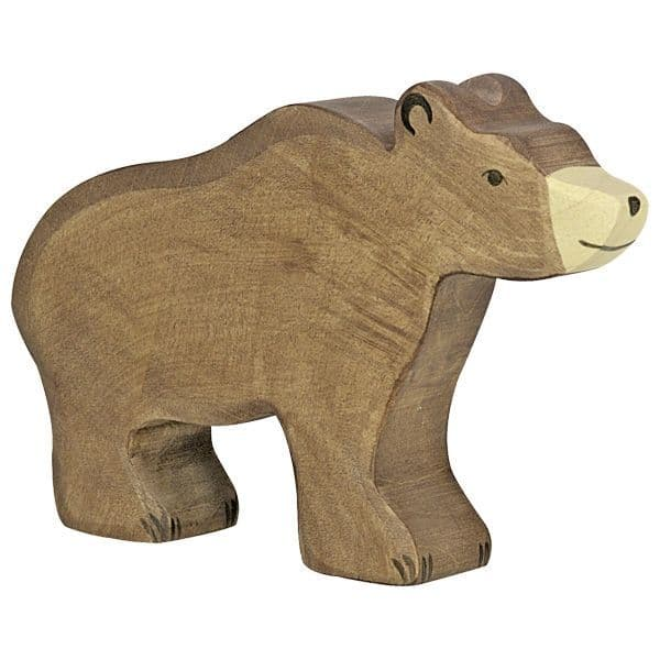 Holztiger Brown Bear Figure
