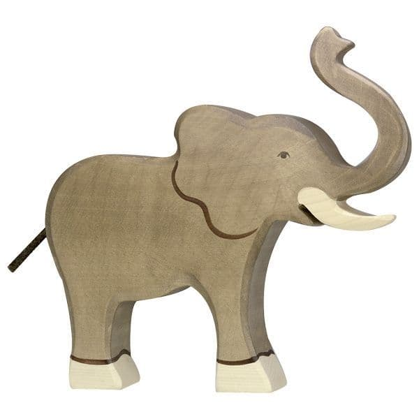 Holztiger Elephant With Trunk Raised