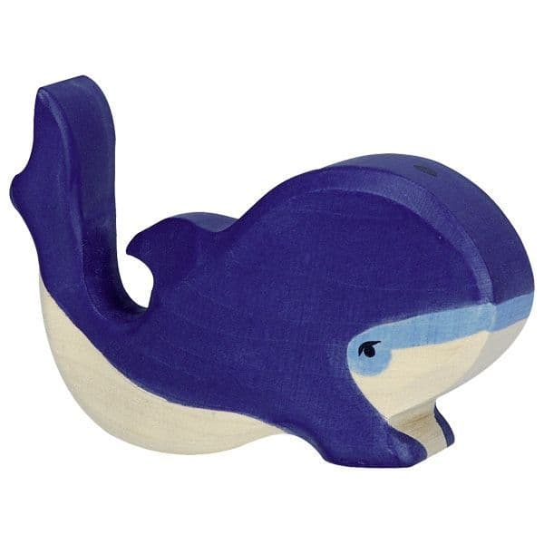 Holztiger Small Blue Whale Figure