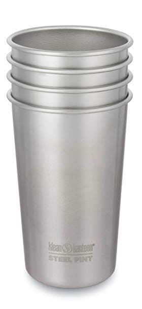 Klean Kanteen 20oz/592ml Pint Stainless steel Cups - 4pk