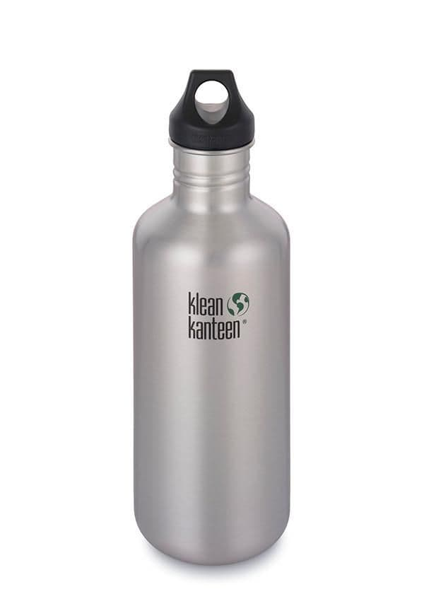Klean Kanteen Classic Loop Cap 40oz/1182ml Bottle - Brushed Stainless