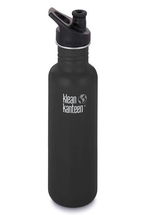 Klean Kanteen Classic Sports Cap Bottle 27oz/800ml - Shale Black