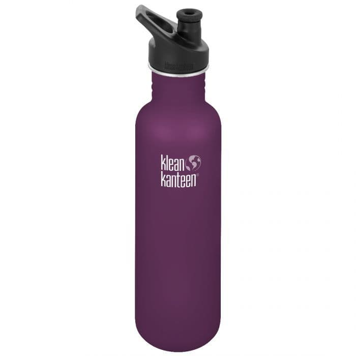 Klean Kanteen Classic Sports Cap Bottle 27oz/800ml - Winter Plum