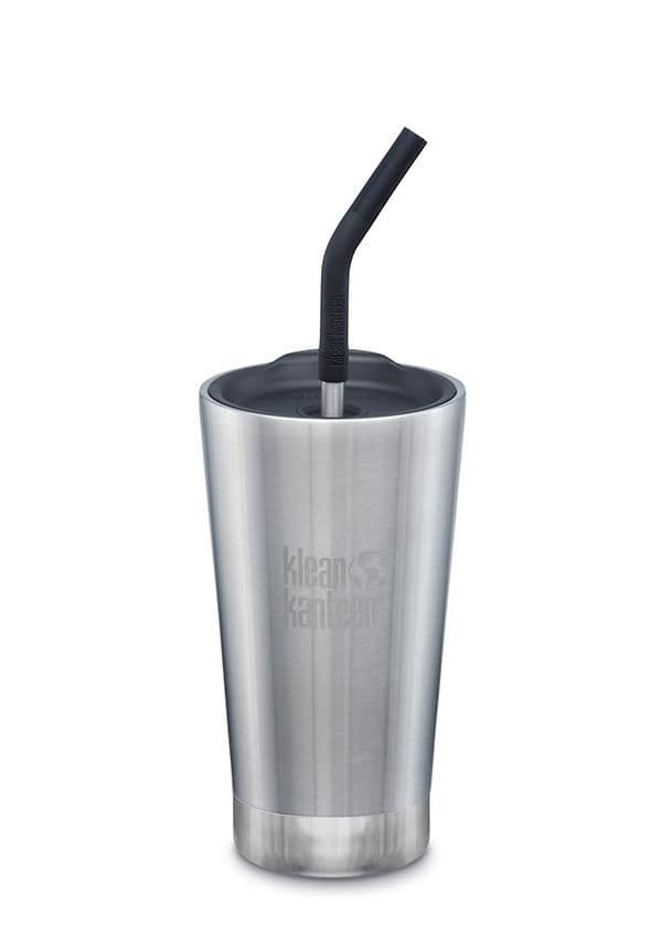 Klean Kanteen Insulated Tumbler 160z/473mls With Straw Lid - Brushed Stainless