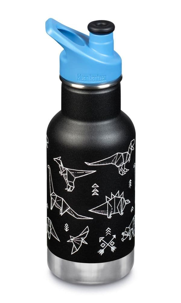 Klean Kanteen Kid Kanteen 12oz/355ml Insulated bottle - Paper Dinos
