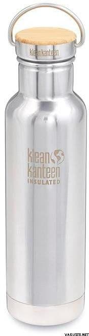 Klean Kanteen Reflect Vacuum Insulated Bottle With Loop Cap 20oz/592ml  - Mirror Stainless