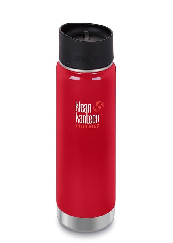 Klean Kanteen Wide Vacuum Insulated 20oz/592ml Bottle With Cafe Cap - Mineral Red