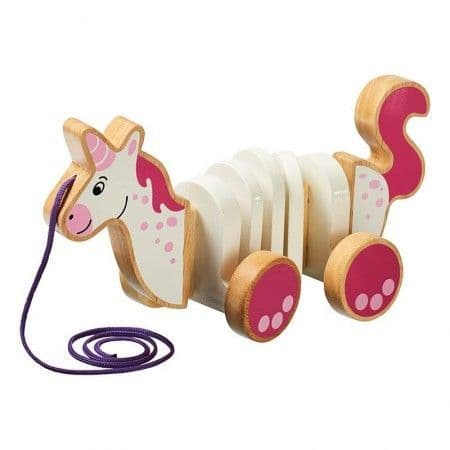 Lanka Kade Unicorn Pull A Long Toy
