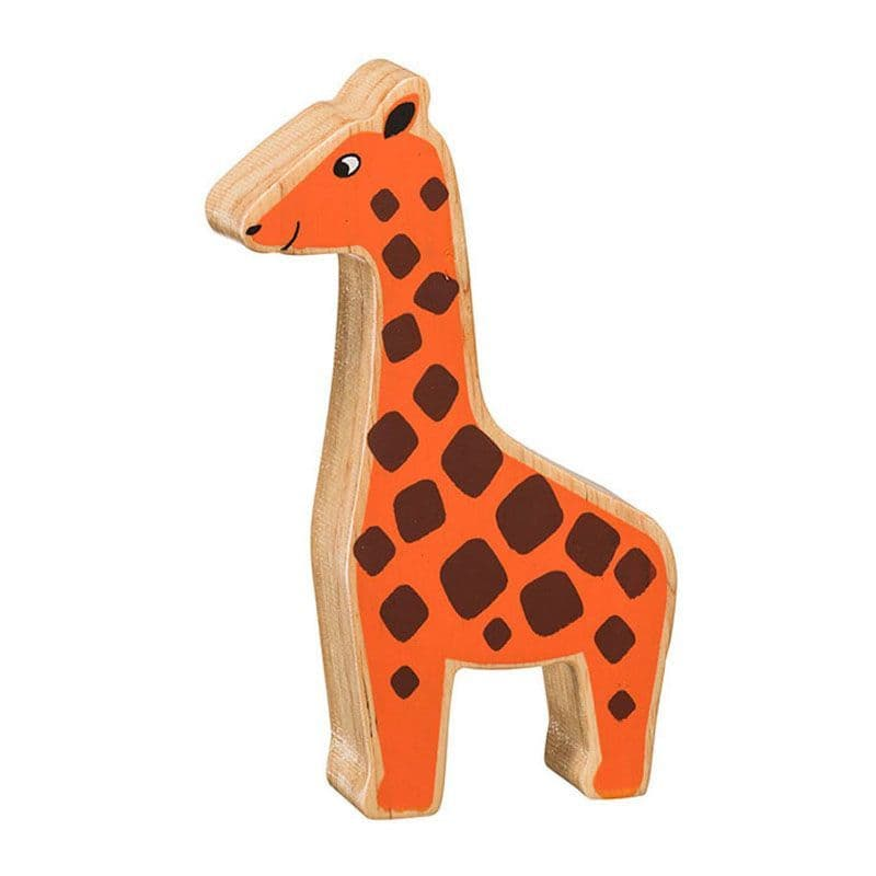 Lanka Kade Wooden Natural Orange Giraffe Figure