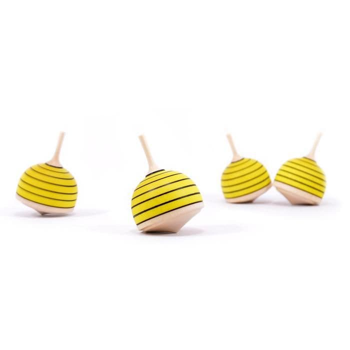 Mader Bulbous Bee Fingertop Spinning Top Toy