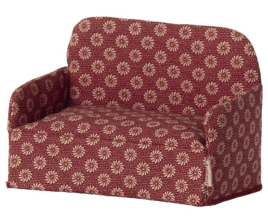 Maileg Christmas Red Mouse Couch