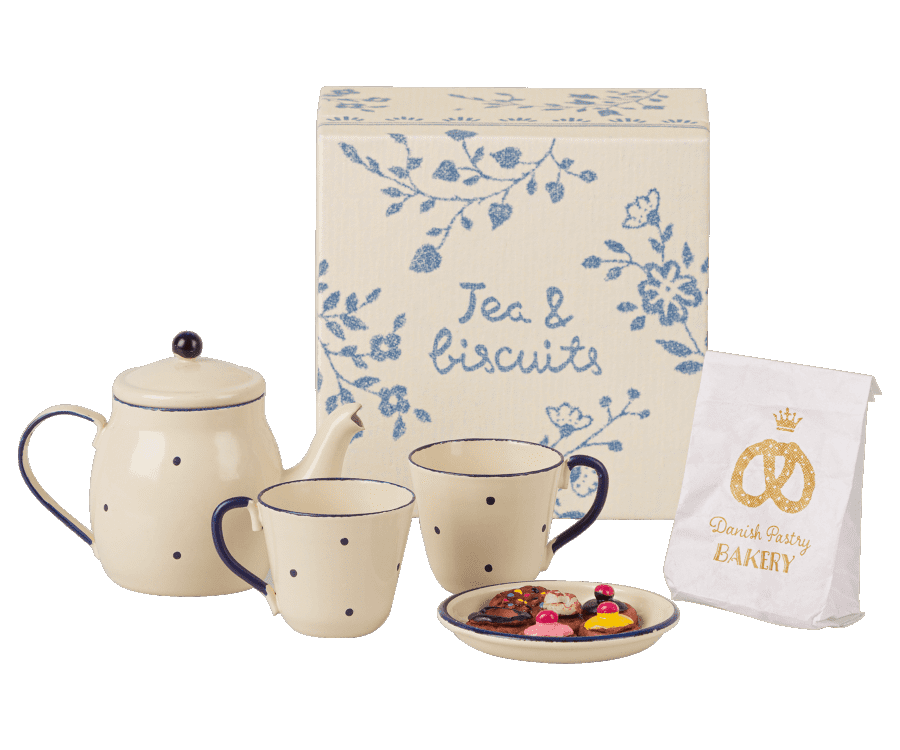 Maileg Tea & Biscuits For Two Play Food