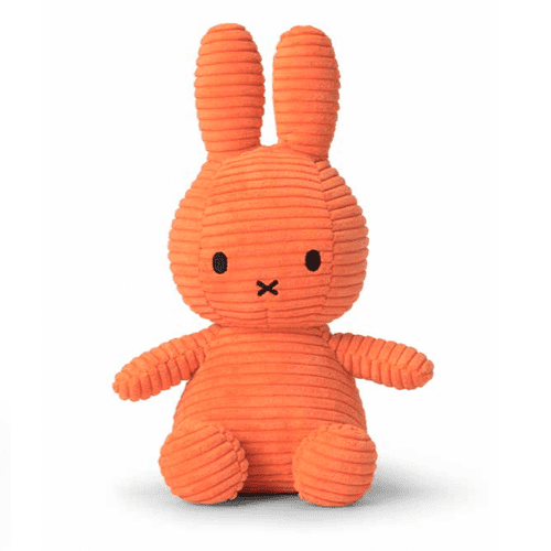 Miffy Courdroy Soft Toy 24cm - Orange