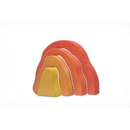 Ocamora Red 'Cueva' Wooden Cave Stacker