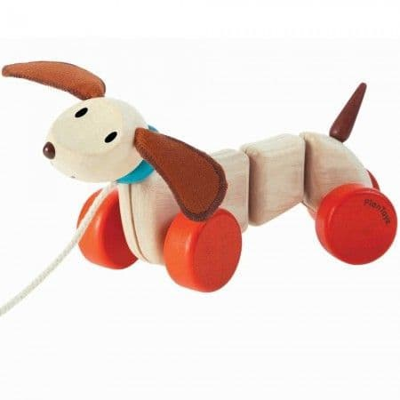Plan Toys Happy Puppy Pull Along Toy