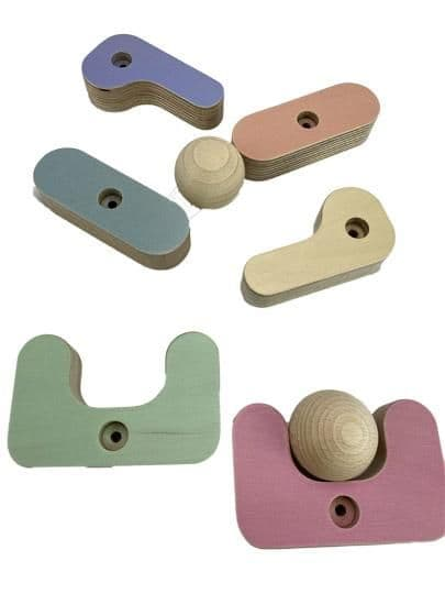 Sawdust and Rainbows Slide Accessory - Pastel Ball Run