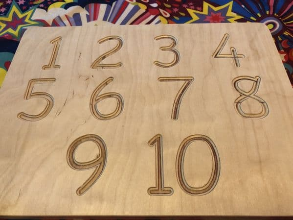 Sawdust And Rainbows Tracing Board - Numbers