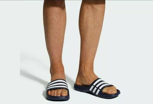 adidas Duramo Mens Sliders Flip Flops Sandals Pool Beach Shoes Slippers Slides