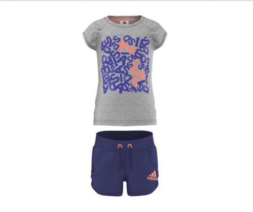 adidas infant Junior Shirt & Shorts Set Great Gift BNWT Free delivery S21679