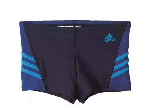 adidas Infinitex Junior Boys Swimming Shorts Boxer Trunks Blue BP9754  free UK D