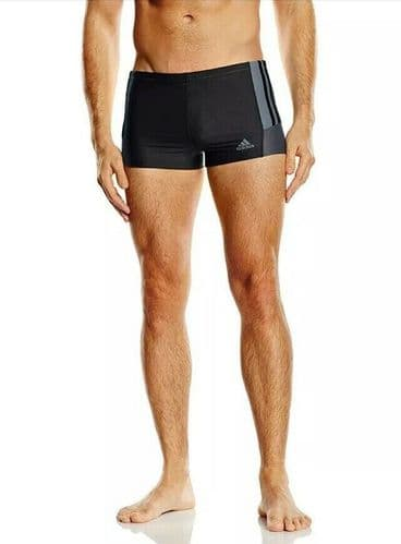 adidas Infintex Inspiration Men's Boxer Swimming Shorts Trunks Black BNWT AB7017
