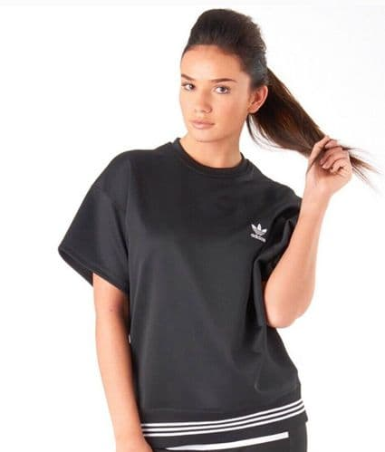 adidas Originals by HYKE Womens Ladies Short Sleeve Jersey Top Black BNWT V Rare