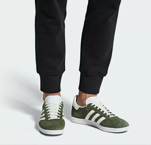 adidas Originals Mens Gazelle Green Trainers Shoes B41649 UK 4.5 to 10.5 Free D