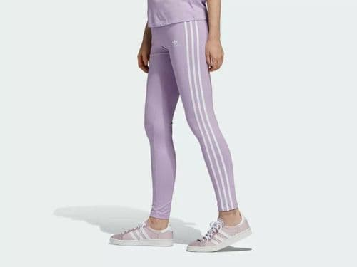 adidas Originals Women's 3-Stripes Trefoil Logo Fashion Sports Tight Leggings
