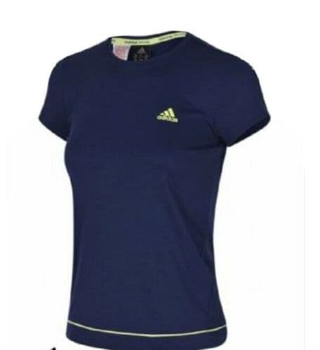 adidas Performance Women's Padel Galaxy T-Shirt Blue Climalite UPF50+ S49761