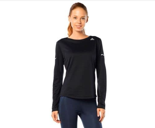 adidas Performance Womens Climalite LS Running Top Shirt Black BNWT AA5106