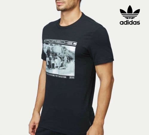adidas Porsche Design Men's Race Tee T-Shirt BNWT BQ5120 Free 1st class delivery