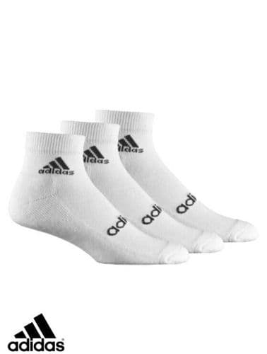 adidas sport 3 pack Linear Ankle Socks with comfort cushioning unisex Z11472